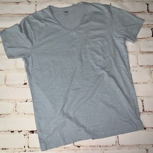 [uniqlo] slub v-neck tee